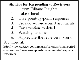 Six Tips for Responding to Reviewers from Editage Insights
